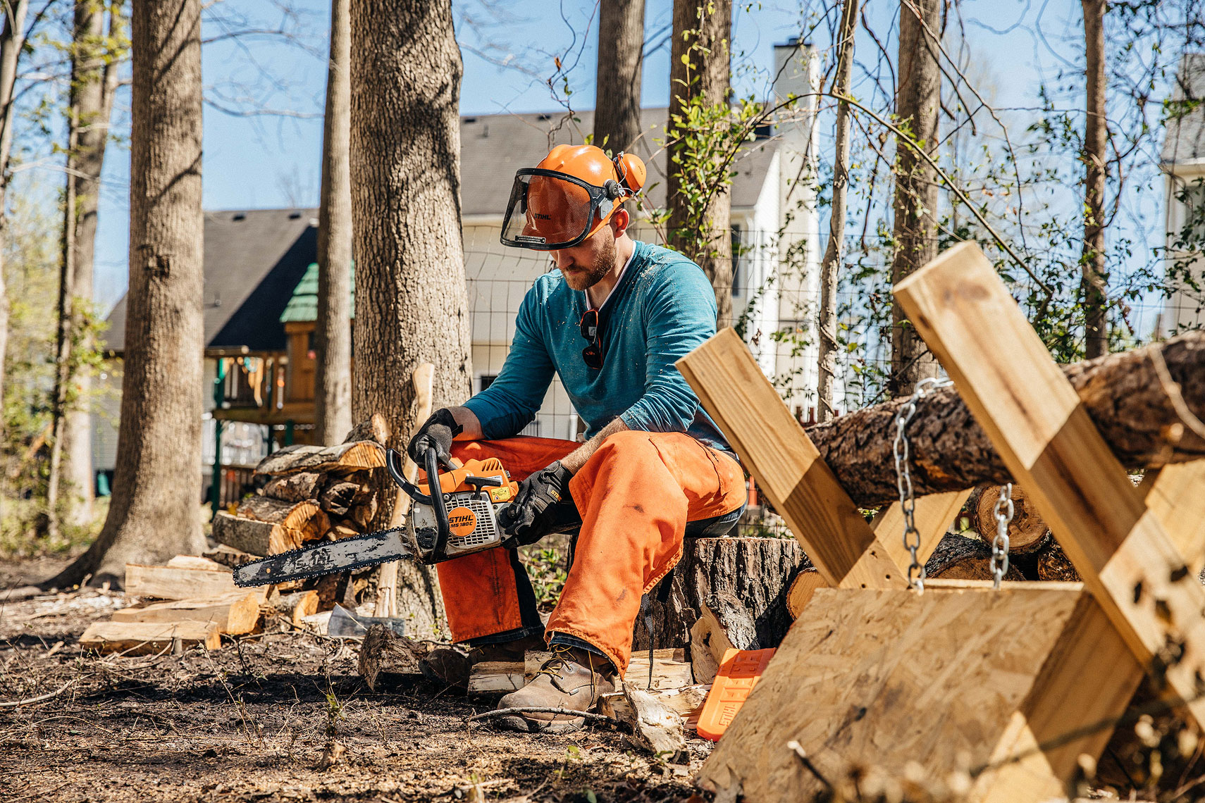 STIHL Chainsaw Products | John Fedele Product Photography