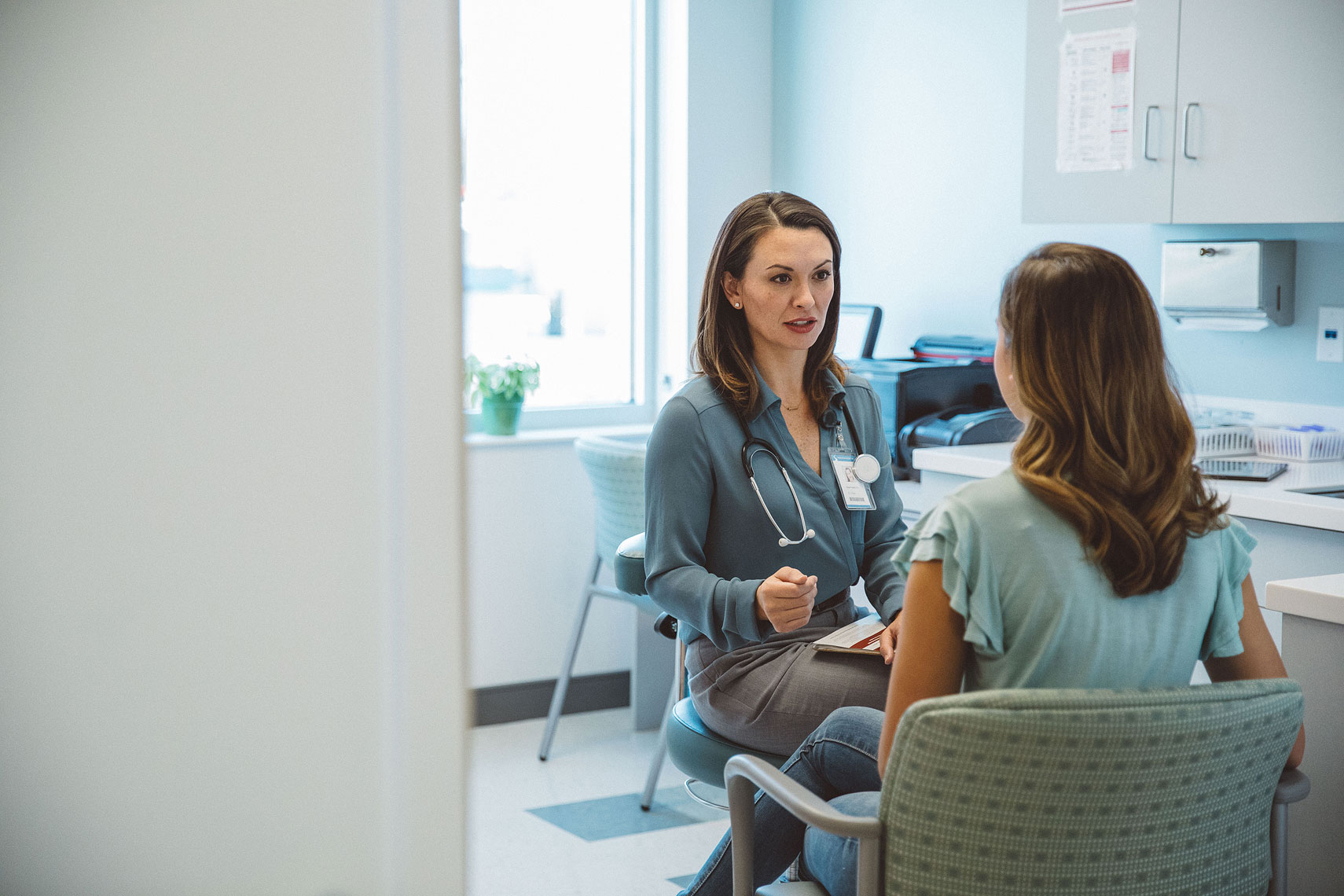 Doctor in discussion with a patient |  Centene | John Fedele Lifestyle Photography