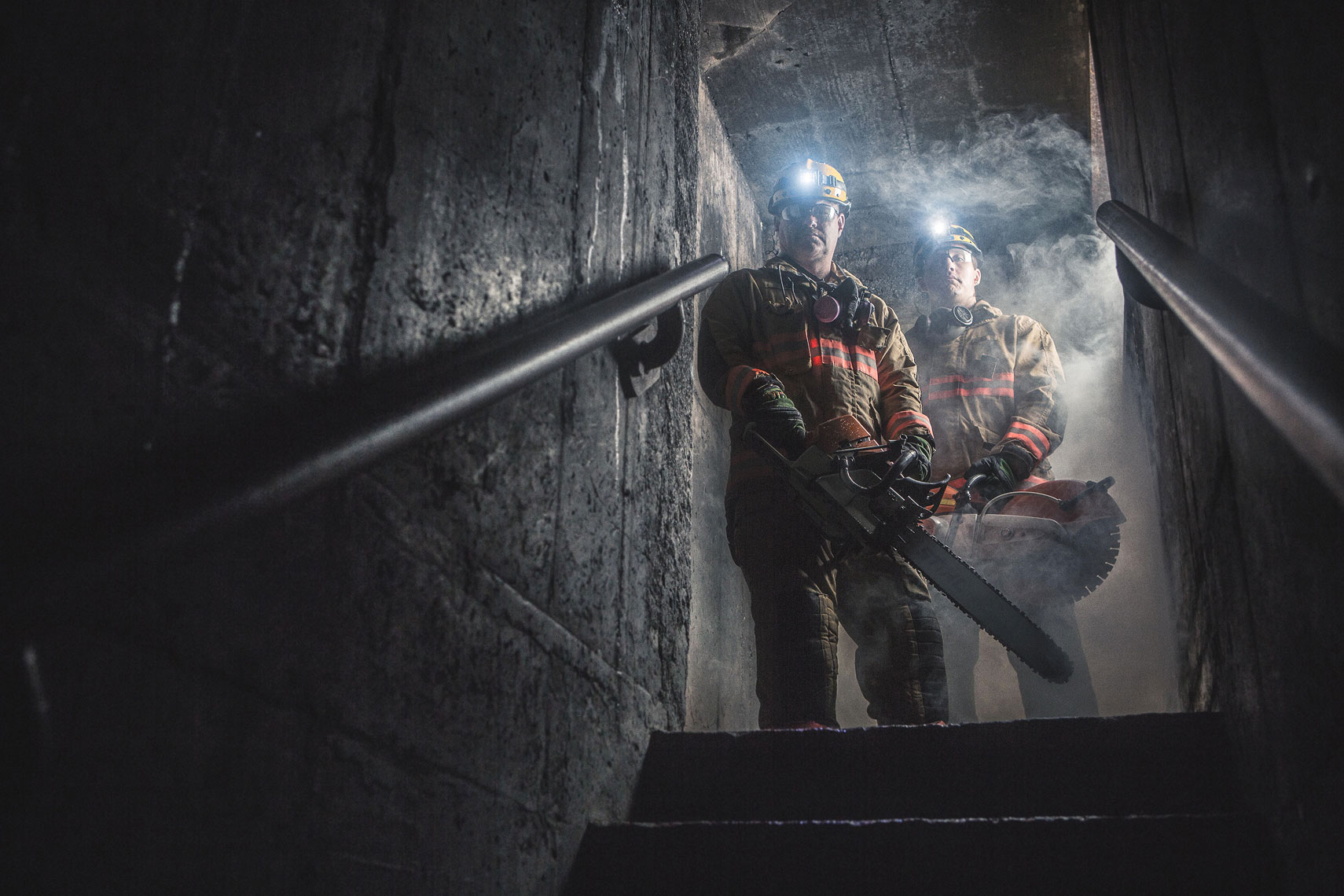 STIHL Fire & Rescue Team Portrait | John Fedele Product Photography