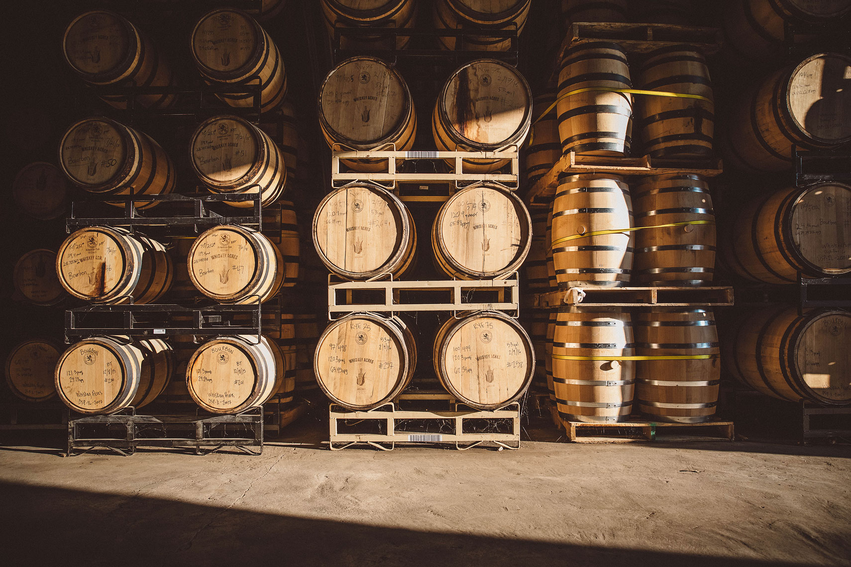 Whiskey Barrels | Whiskey Acres Distillery | John Fedele Agricultural Photography