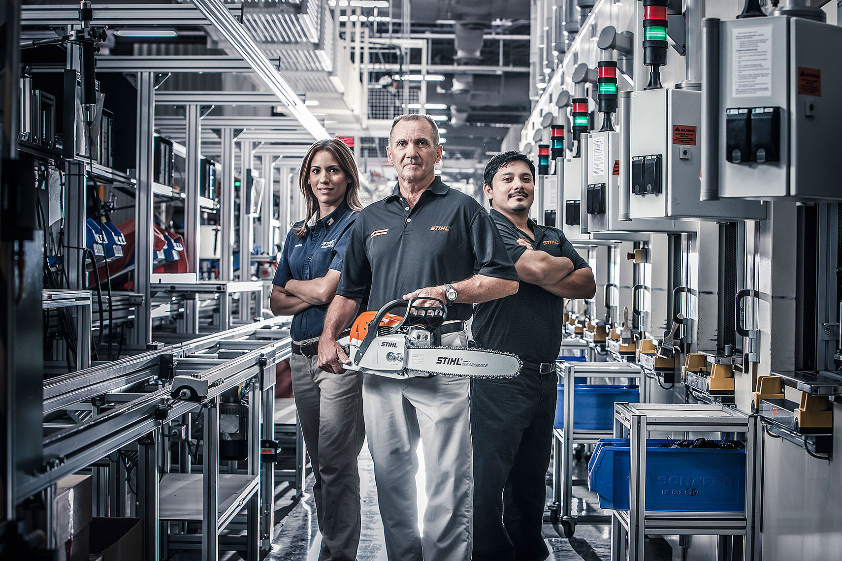 STIHL Factory Portrait | John Fedele Product Photography